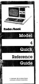 Radio Shack 4 Quick Reference