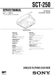 Sony SCT-250 Service Manual