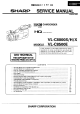 Sharp VL-C8000S Service Manual