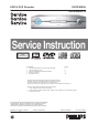 Philips DVDR9000H Service Instructions Manual