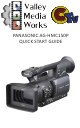 Panasonic AG-HMC150P Quick Start Manual