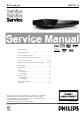 Philips DVP3680 Service Manual