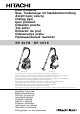 Hitachi Rp 35YB Handling Instructions Manual