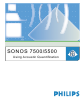 Philips SONOS 7500 User Manual
