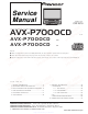 Pioneer AVX-P7000CD UC Service Manual