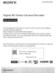 SONY HDR-AS200V Startup Manual