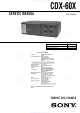 Sony CDX-60X - Compact Disc Changer Service Manual