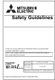 Mitsubishi Electric 13J240 Safety Manuallines