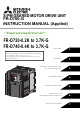 Mitsubishi Electric FR-D720-0.75K-G Instruction Manual