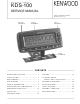 Kenwood FleetSync KDS-100 Service Manual
