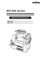 Brother MD-602 Service Manual