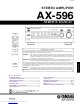 Yamaha AX-596 Service Manual