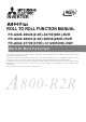 Mitsubishi Electric A800 Plus Series Function Manual
