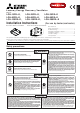 Mitsubishi Electric LGH-100RX5-E Installation Instructions Manual