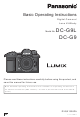 Panasonic Lumix DC-G9 Basic Operating Instructions Manual