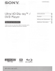 Sony UBP-UX70 Operating Instructions Manual