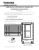 Toshiba 4400 80kVA Seismic Installation Instructions Manual