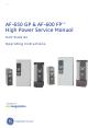 GE AF-650 GP Operating Instructions Manual