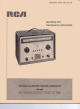 RCA WR-99A Operating And Maintenance Instructions Manual