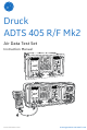GE Druck ADTS 405 R/F Mk2 Instruction Manual