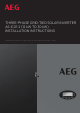 AEG AS-IC01-20000-2 Installation Instructions Manual