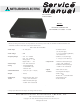 Mitsubishi Electric HD-4001 Service Manual