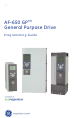 GE AF-650 GP Programming Manual