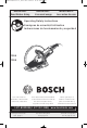 Bosch 1365 Operating And Safety Instructions Manual