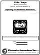 Electronics International RSVA-3 Operating And Installation Instructions