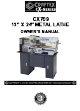 Craftex CX Series Owner's Manual