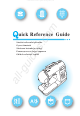 brother 885-V14 Quick Reference Manual