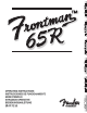 Fender Frontman 65 R Operating Instructions Manual