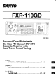 Sanyo FXR-110GD Operating Instructions Manual