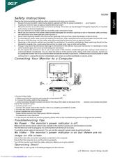 acer p223w user manual pdf download rh manualslib com User Guide Cover Clip Art User Guide