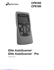 actron elite autoscanner cp9185 user manual pdf download rh manualslib com Actron CP9185 Review Actron Scanners for Chrysler Adapters