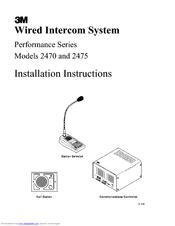 3m 2470 installation instructions manual pdf download rh manualslib com Aiphone Intercom Wiring-Diagram Intercom Systems