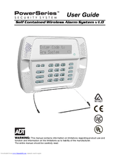 ADT USER MANUALS - Zions Security Alarms