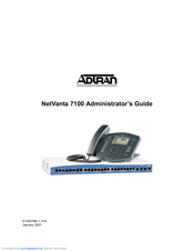 ADTRAN NETVANTA 7100 ADMINISTRATOR'S MANUAL Pdf Download