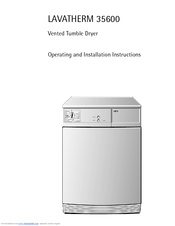 AEG LAVATHERM 35600 Operating And Installation Instructions