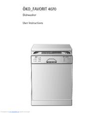 aeg ko favorit 4070 user instructions pdf download rh manualslib com Gaggenau Dishwasher Manual Admiral Dishwasher Manual