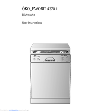 aeg oko favorit 4270 i manuals rh manualslib com aeg oko favorit 675 dishwasher manual