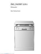 aeg ko favorit 40700 manuals rh manualslib com aeg favorit dishwasher manual aeg sensorlogic dishwasher troubleshooting