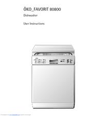 aeg ko favorit 80800 user instructions pdf download rh manualslib com Amana Dishwasher Manual GE Dishwasher Manual