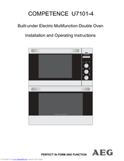 aeg competence u7101 4 manuals rh manualslib com aeg electrolux oven instructions aeg electrolux oven parts