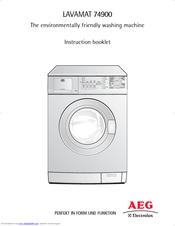 aeg electrolux lavamat 74900 manuals rh manualslib com aeg washing machine service manual pdf Load Washing Machine Spin