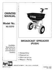 agri fab 45 0210 manuals rh manualslib com agri-fab 45-0462 push broadcast spreader manual agri fab tow behind spreader manual