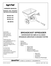 agri fab 45 0315 manuals rh manualslib com Agri-Fab Lawn Vacuum Parts List Agri-Fab Tow Behind Spreader