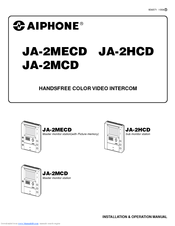 aiphone ja 2hcd installation and operation manual pdf download rh manualslib com
