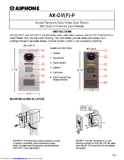 aiphone ax dv f p manuals rh manualslib com