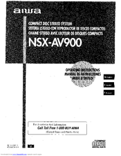 Aiwa NSX-AV900 Operating Instructions Manual